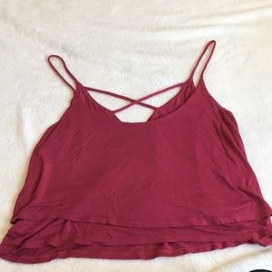 """""""5 For $25"""" LA Hearts Cropped Layered Tank"""